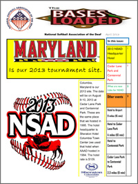 The Bases Loaded - April 2013