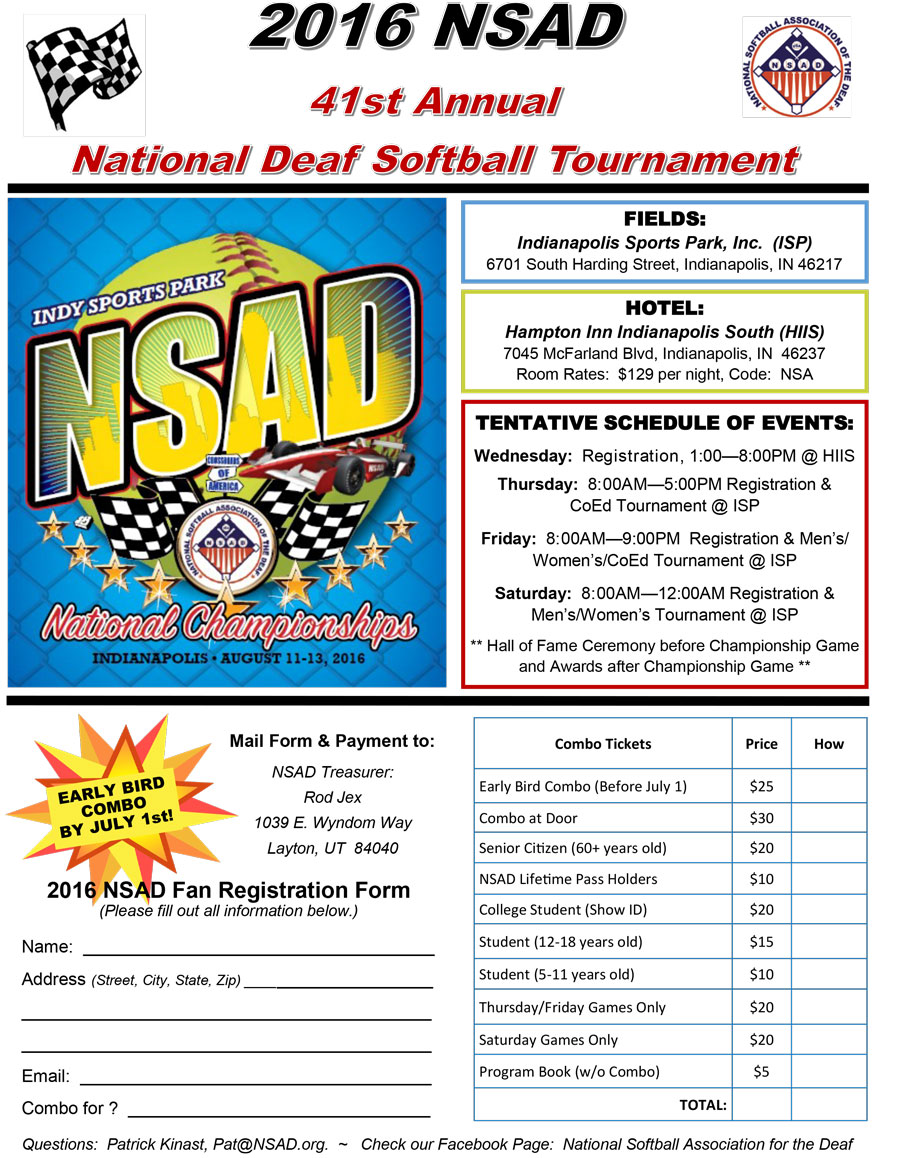 2016 NSAD Tournament Flyer